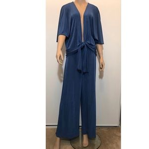 Chico's Travelers Blue Two Pcs. Goucho/Top Sz. 3